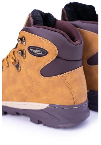 Světle hnědé oteplené trekingové boty pro pány