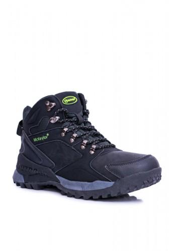 Pánské zimní trekingové boty v černé barvě