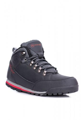 Černé oteplené trekingové boty pro pány