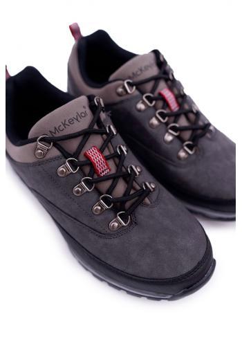 Trekingová pánská obuv šedé barvy