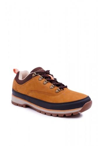 Pánská trekingová obuv v světle hnědé barvě
