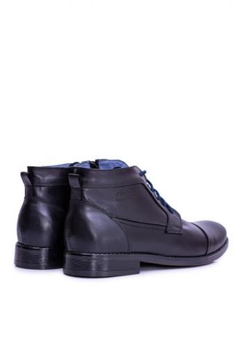 Kožené pánské boty černé barvy
