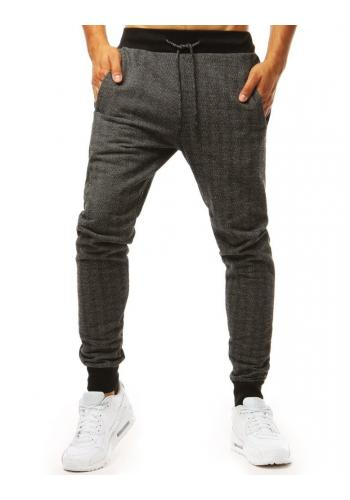 Pánské módní tepláky v šedé barvě