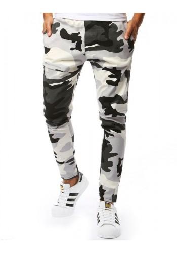Pánské maskáčové kalhoty v bílé barvě