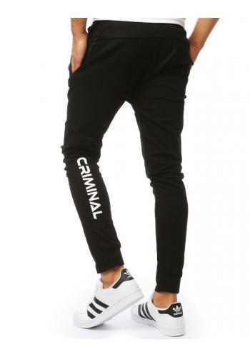 Černé módní kalhoty pro pány