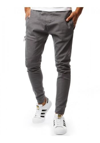 Pánské módní kalhoty v šedé barvě