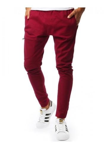Bordové módní kalhoty pro pány