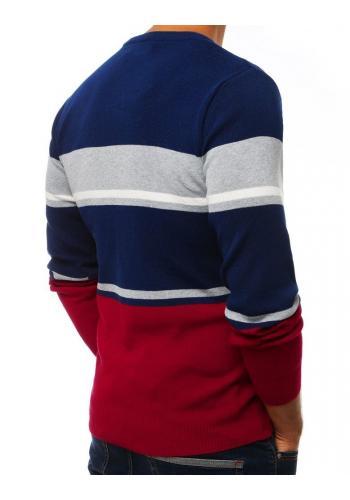 Modrý stylový svetr s kontrastními prvky pro pány