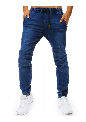 Pánské stylové Joggery s riflovým vzhledem v modré barvě