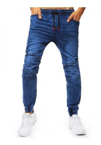 Modré módní Joggery s riflovým vzhledem pro pány