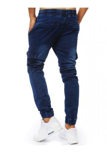 Pánské módní Joggery s riflovým vzhledem v modré barvě