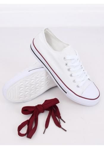 Klasické dámské tenisky bílé barvy s gumovou podrážkou