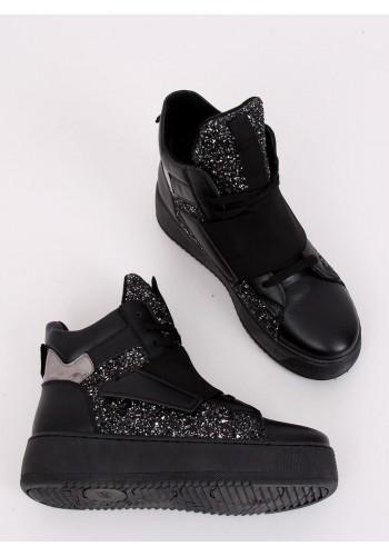 Černé módní Sneakersy s vysokou podrážkou pro dámy