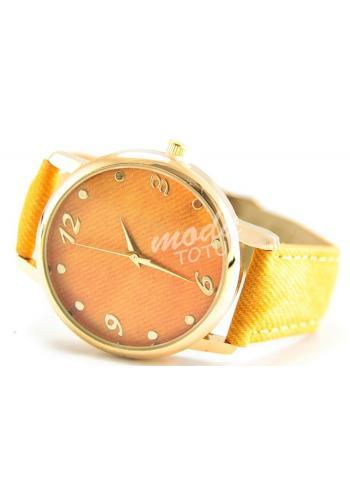 Dámské hodinky JEANS - hnědé ve slevě