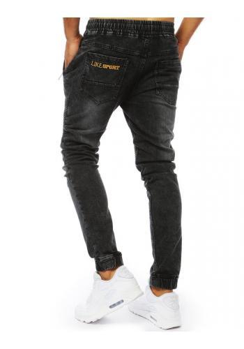 Černé stylové Joggery s riflovým vzhledem pro pány