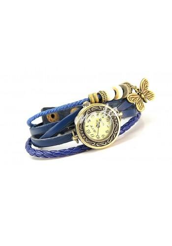 Dámské hodinky RETRO - tmavě modré