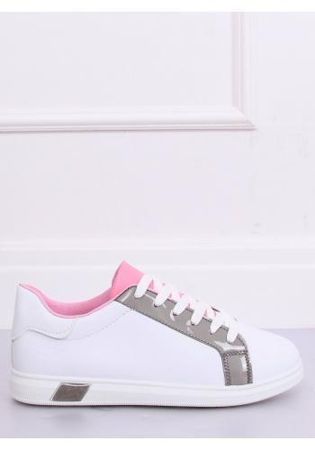 Bílé módní tenisky s šedými prvky pro dámy