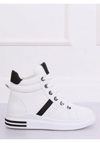 Dámské kotníkové Sneakersy s vysokou podrážkou v bílo-černé barvě