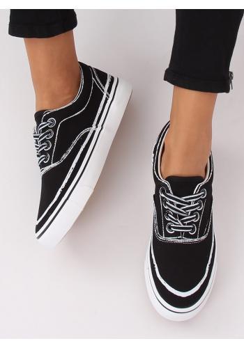 Dámské stylové tenisky v černé barvě
