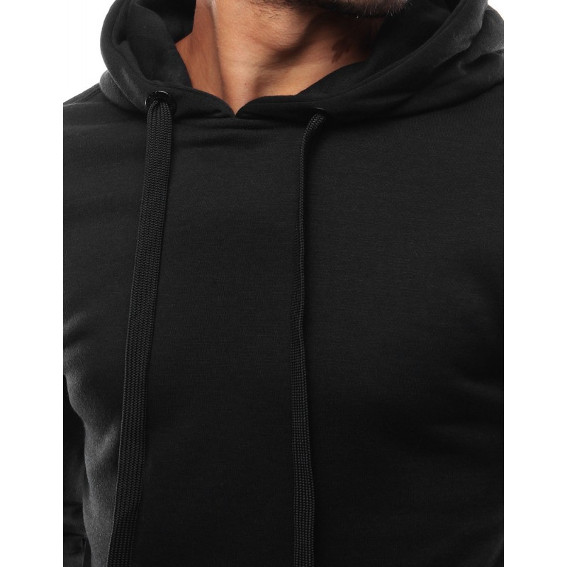 Černá mikina s klokaní kapsou pro pány