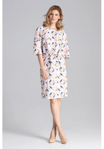Módní dámské šaty bílé barvy s vázáním