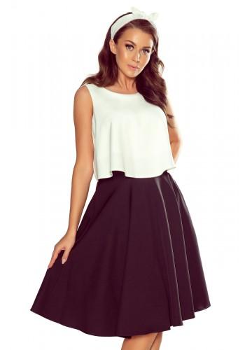 Dámská rozšířená sukně s kapsami v černé barvě