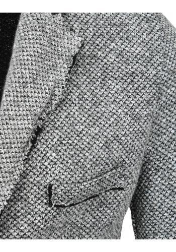 Pánské jednořadé sako v šedé barvě