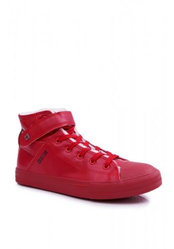 Oteplené pánské tenisky Big Star červené barvy
