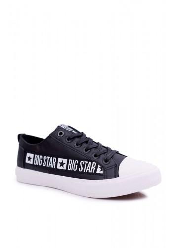 Černé módní tramky Big Star s nášivkou pro pány