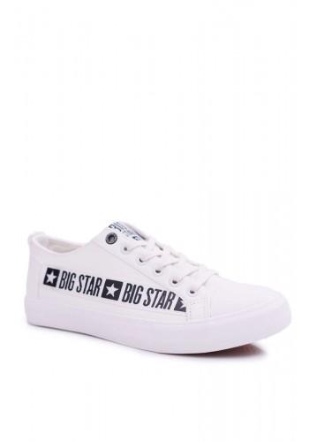 Módní pánské tenisky Big Star bílé barvy s nášivkou