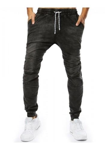 Černé módní Joggery s riflovým vzhledem pro pány