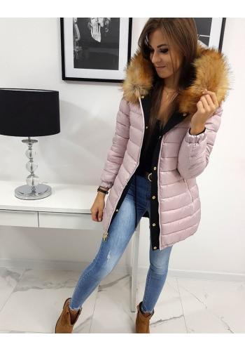 Oboustranná dámská bunda černé barvy na zimu