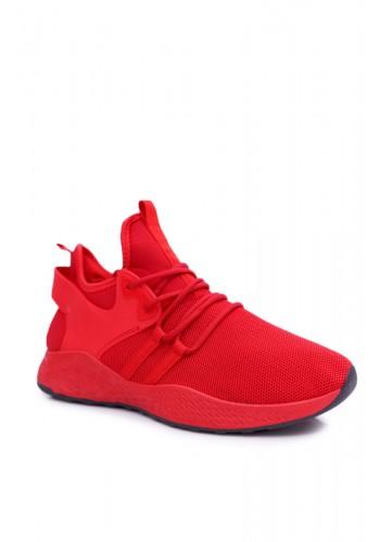 Pánské sportovní tenisky v červené barvě