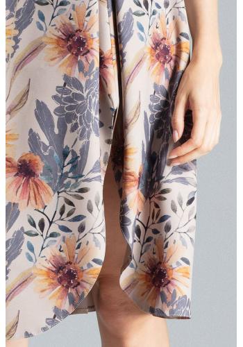 Dámská elegantní sukně se vzorem v béžové barvě
