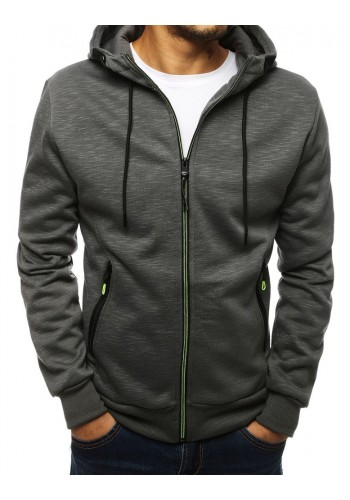 Klasické pánské mikiny tmavě šedé barvy s kapucí