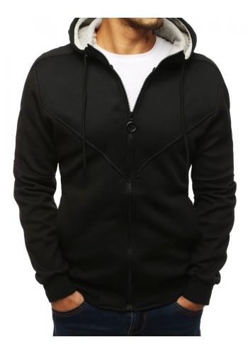 Černá módní mikina s kapucí pro pány
