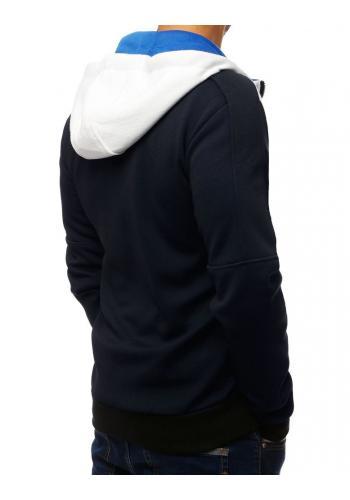 Módní pánská mikina tmavě modré barvy s kapucí