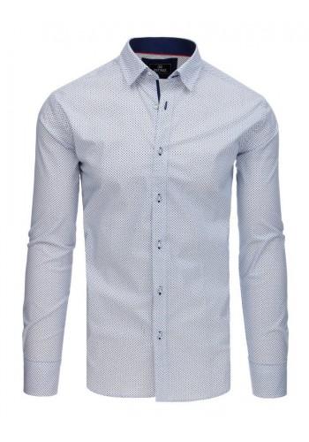 Bílá módní košile se vzorem pro pány