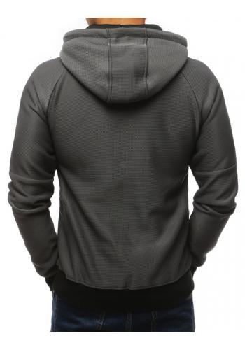 Stylová pánská mikina tmavě šedé barvy s potiskem