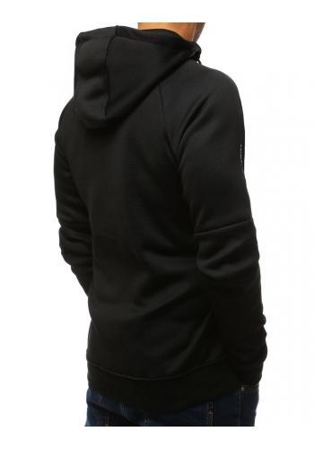 Černá stylová mikina s potiskem pro pány