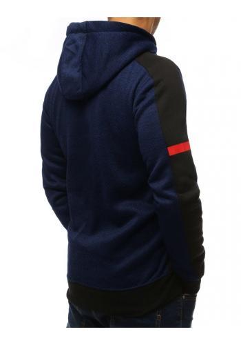 Tmavě modrá sportovní mikina s kapucí pro pány