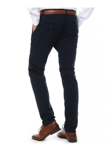 Pánské elegantní kalhoty chinos v tmavě modré barvě