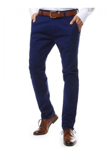 Tmavě modré elegantní kalhoty chinos pro pány