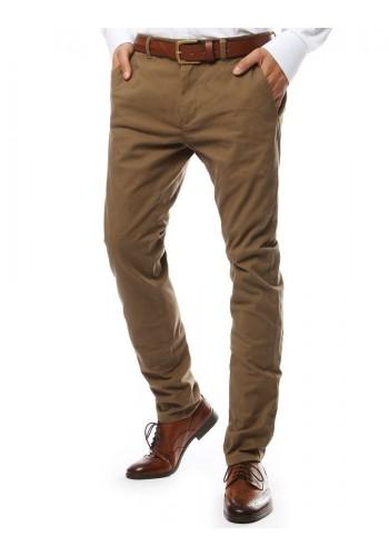 Světle hnědé elegantní kalhoty chinos pro pány