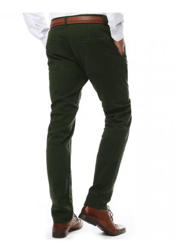 Elegantní pánské kalhoty chinos zelené barvy
