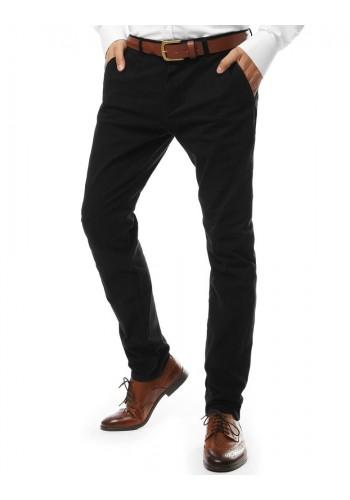 Pánské elegantní kalhoty chinos v černé barvě