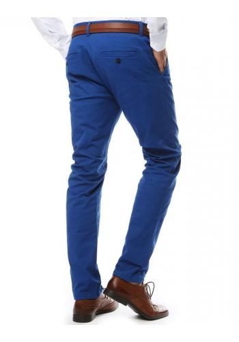 Modré elegantní kalhoty chinos pro pány