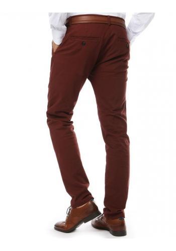 Elegantní pánské kalhoty chinos červené barvy