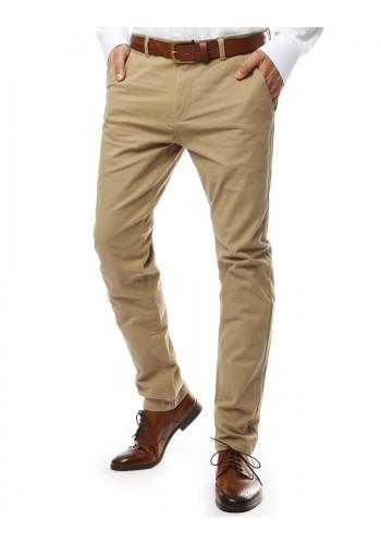 Pánské elegantní kalhoty chinos v béžové barvě
