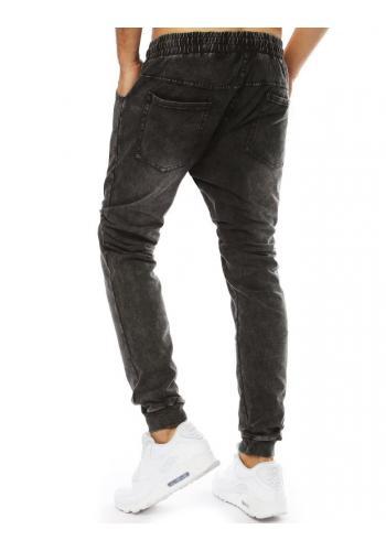 Pánské stylové Joggery s riflovým vzhledem v černé barvě